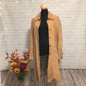 🧥 DANIER Tan Suede Leather Jacket